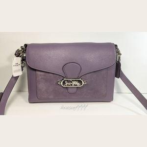 Rare Jade leather & suede Messenger bag